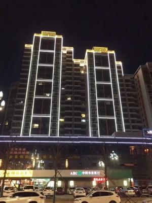 蔡家坡凤仪国际楼亮化