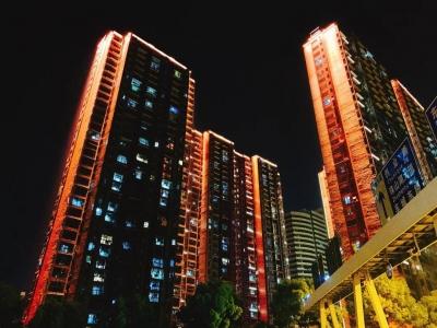 武汉开发区商业楼亮化——朗亮照明