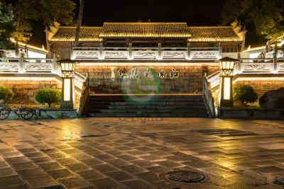 浙江永康市园周村古建筑景观照明案例