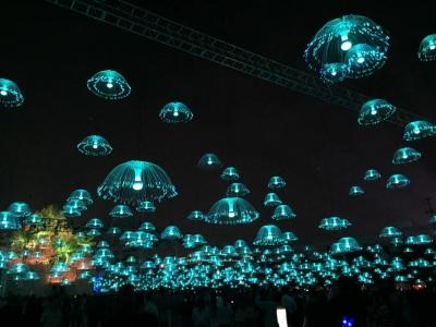 光纤水母灯